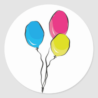 Sticker Rond baloons
