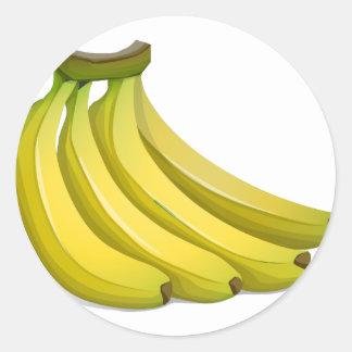 Sticker Rond Bananes