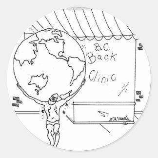 Sticker Rond Bande dessinée 6475 de chiroprakteur