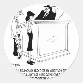 Sticker Rond Bande dessinée 6485 de divorce