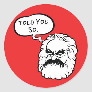 Sticker Rond Bande dessinée Marx je vous ai dit ainsi