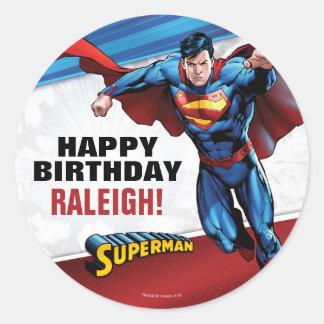 Sticker Rond Bandes dessinées de C.C | Superman - anniversaire