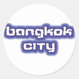STICKER ROND BANGKOK CITY