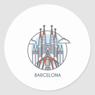Sticker Rond Barcelone