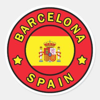 Sticker Rond Barcelone Espagne