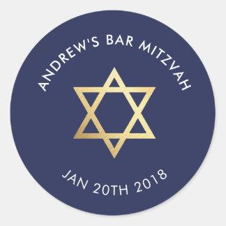 Sticker Rond Barre FAITE SUR COMMANDE Mitzvah pour la marine