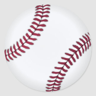 Sticker Rond Base-ball