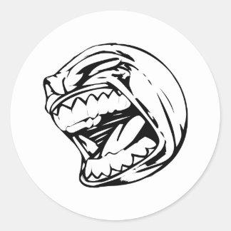 Sticker Rond Base-ball criard