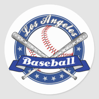 Sticker Rond Base-ball de Los Angeles