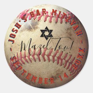Sticker Rond Base-ball Mitzvah de PixDezines