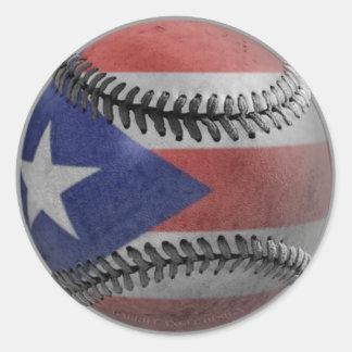 Sticker Rond Base-ball portoricain