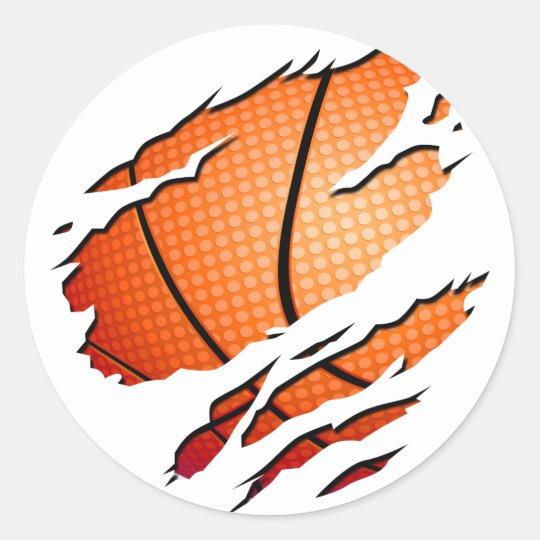 Sticker Rond basketball