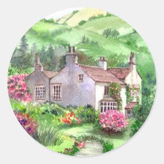 Sticker Rond Bâti de Rydal, la maison de William Wordsworth