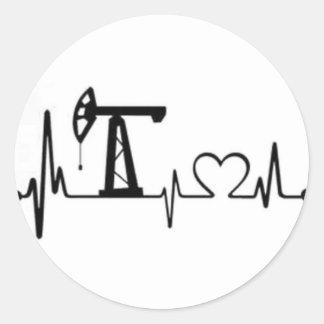 Sticker Rond Battement de coeur de Jack de pompe