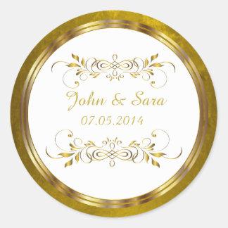 Sticker Rond Beau contour d'or d'aluminium