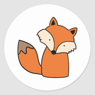 Sticker Rond Beau renard rouge
