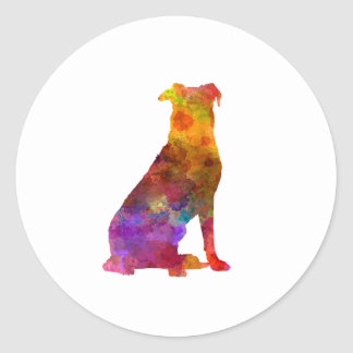 Sticker Rond Beauceron in watercolor