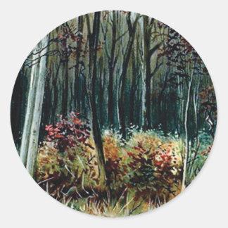 Sticker Rond beauté dans les bois
