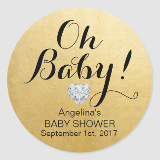 Sticker Rond BÉBÉ de l'OH élégant unique ! Baby shower de