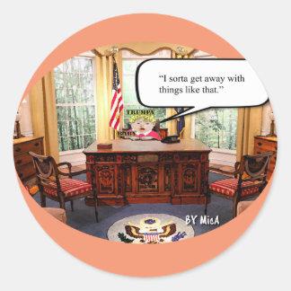 Sticker Rond Bébé de Trumpy - bureau ovale - feuille