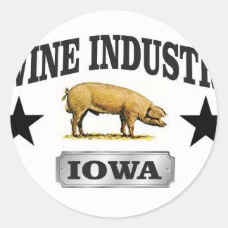 Sticker Rond bébé d'industrie de porcs