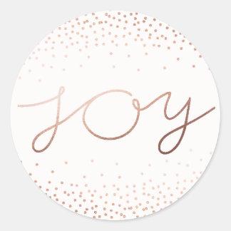 Sticker Rond Belles vacances pures de la joie |
