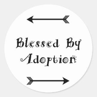 Sticker Rond Béni par adoption - accueil