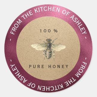 Sticker Rond Betteraves faites maison Bourgogne d'abeille de