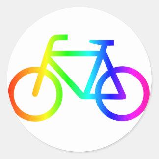 Sticker Rond Bicyclette 3 d'arc-en-ciel