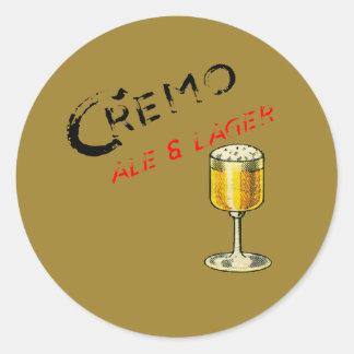 Sticker Rond Bière de bière anglais de Cremo et blonde