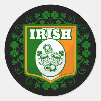 Sticker Rond Bière du jour de St Patrick