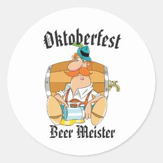 Sticker Rond Bière Meister d'Oktoberfest