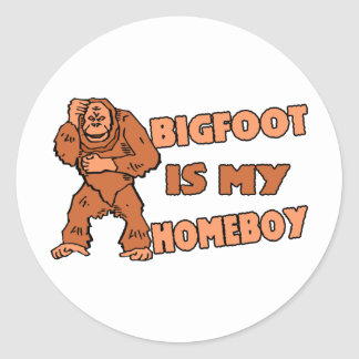 Sticker Rond Bigfoot est mon Homeboy