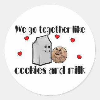 Sticker Rond Biscuits et amour de lait