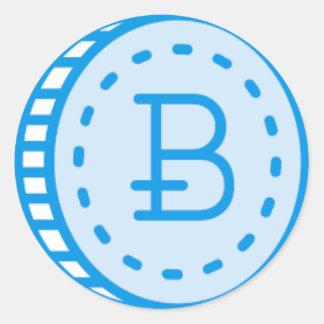 Sticker Rond Bitcoin Bluez