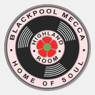 Sticker Rond Blackpool Mecque - à la maison de l'âme