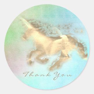 Sticker Rond Bleu magique Ombre de menthe de Merci d'étoiles