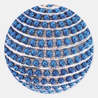 Sticker Rond Bleu perlé