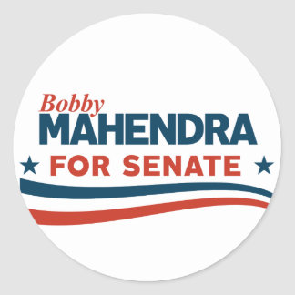 Sticker Rond Bobby Mahendra pour le sénat