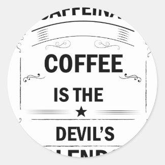 Sticker Rond boisson drôle de café
