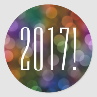 Sticker Rond bokeh 2017