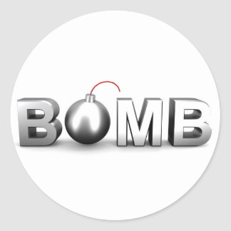 Sticker Rond Bombe