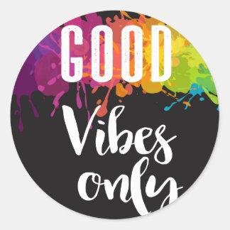 Sticker Rond Bon vibraphone seulement, citation inspirée