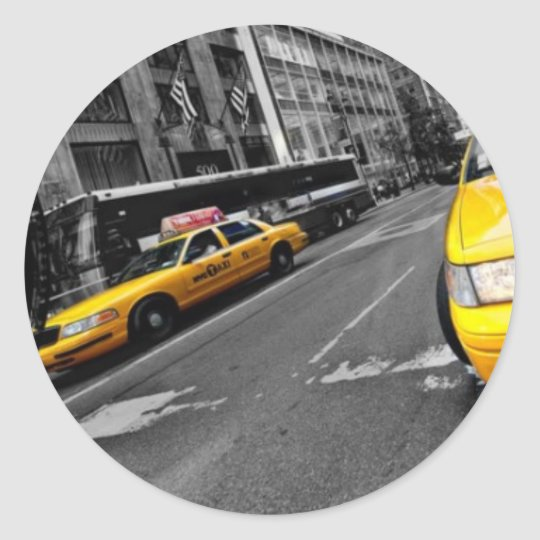 "STICKER ROND ""BONS PLANS NY"""