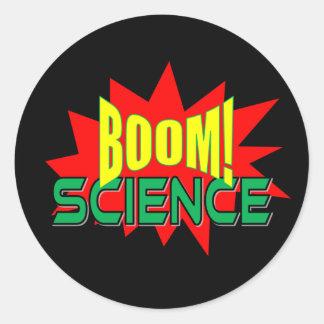 Sticker Rond Boom ! Paquet d'autocollant de la Science