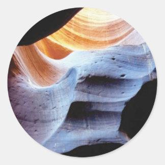 Sticker Rond Bosses et morceaux dans les roches