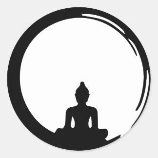 Sticker Rond Bouddha silent