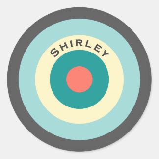 Sticker Rond Boudine grise de combinaison par Shirley Taylor