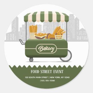 Sticker Rond Boulangerie de rue de nourriture
