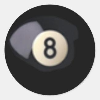 Sticker Rond Boule 8 de Billard